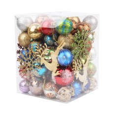 Christmas Decorations 60-70 Buckets Of Plastic Shiny Matte Christmas Balls For Parties And Bars
