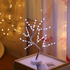 Led Tree Light Creative Gift Stars Snowflake Lantern Copper Wire Light Decoration Night Light