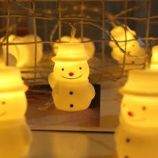 New LED Vinyl Santa Claus Cute Snowman Children's Room Battery String Lights Holiday Decoration Lights