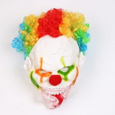 Halloween Color Explosion Head Big Mouth Long Tongue Clown Mask Horror Scary Masquerade For Adult And Children