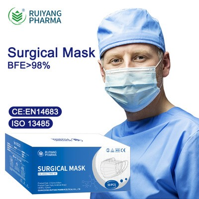 Ruiyang Pharma CE EN14683 Type IIR Medical Surgical Mask Disposable Adult And Child Mask