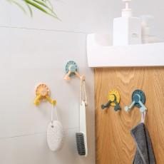 Four Sets Of Rotatable Coat And Hat Clock Hooks, Kitchen Multi-Function Hooks, Punch-Free Storage Racks, Door Hooks