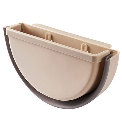 Kitchen Can Hang Folding Trash Can Household Telescopic Wall-Mounted Kitchenware Storage Pot Cover Rack Creative Car Trash