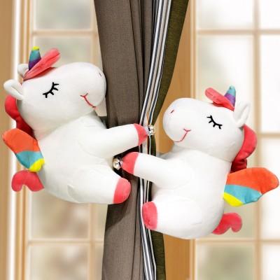Creative Cartoon Doll Curtain Buckle Cute Korean Unicorn Curtain Strapping Storage Accessories One Pair