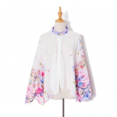 Summer New Styles For Driving And Cycling Button Sun Protection Clothing Ladies Cardigan Printed Anti-sneak Thin Shawl