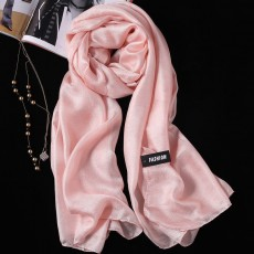 2PCS Summer New Linen Silk Scarf, Seaside Sunscreen Beach Towel Shawl Fashion Gift Solid Color Scarf