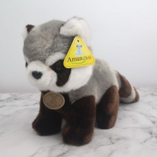 Amangs Raccoon Station Plush Toy Cute Doll Sleeping Pillow As Birthday Gift For Children
