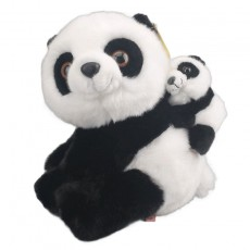 Amangs Giant Panda Hug Bear Plush Toy Simulation Mother Panda Doll Birthday Gift For Children