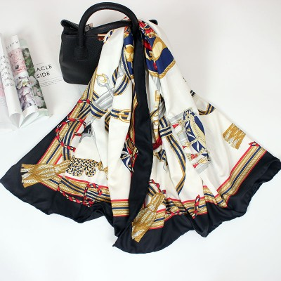 Summer Silk Scarf Women's Wild New style Scarf Silk Shawl Large Square Gift