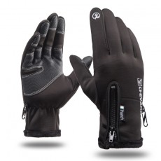 K2Q9063 Waterproof Riding Gloves Plus Velvet Motorcycle For Warm And Fitness Exercise
