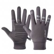 K1Q9062 Outdoor Cycling Gloves Wholesale Windproof Full Finger Sports Reflective Plus Velvet For Men And Women