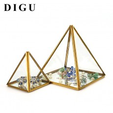 Local Tyrant Gold Diamond Glass Decoration Flower Room Ppen Door Closed High-end Jewelry Display Box Eternal Flower Box