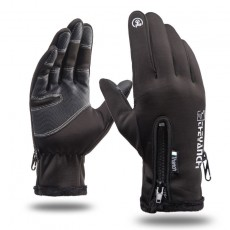 K1Q9063 Waterproof And Velvet Warm Gloves Riding Fitness Motorcycle Sports Gloves