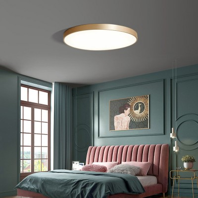 2020 Copper And Acrylic Three-color 12W Copper Natural Color With Simple Style  Ceiling Lamp