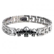 Skull Bracelet Valentine's Day Jewelry Wholesale Buckle Oil Bracelet Titanium Steel Bracelet Valentine's Day Gift
