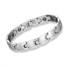 Titanium Steel Couple Bracelets Black Magnetic Trend Jewelry Germanium Sand Stainless Steel Jewelry For Men And Women