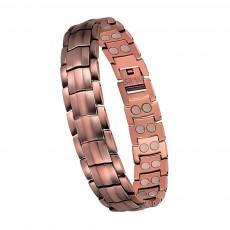 Red Copper Bracelet Pure Magnetic Germanium Four-in-one Negative Ion Magnetic Bracelet Retro Fashion Bracelet For Men