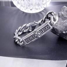 Punk Stainless Steel Bracelet Cross Titanium Steel Personalized Bracelet For Men