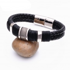 Titanium Steel Bracelet With Personality Stainless Steel Design Bracelet Leather Rope For Men