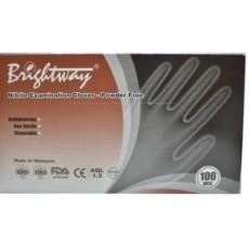 BRIGHTWAY Brand Powder Free Nitrile Gloves And Latex Examination Gloves CE FDA 510(K)