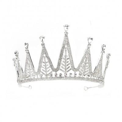 Luxury Full Diamond Crown Birthday Party Goddess Crown Bride Wedding Dress Headdress Accessories
