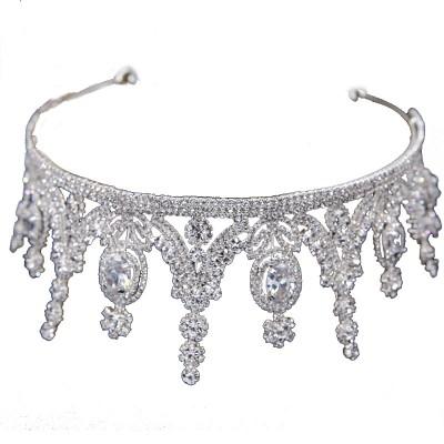 Tiara Crown Zircon Crystal Hair Crown Accessories Wedding Photo Toast For Princess And Bridal