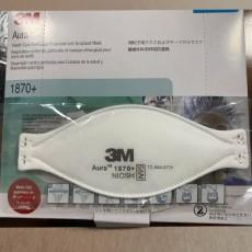 3M Aura 1870+ NIOSH N95 Particulate Respirator and Surgical Mask 20Pcs