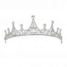 Bridal Wedding Crown Baroque Simple Bridal Crown Diamond Alloy Headband Wedding Accessories