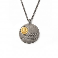 Necklace Street Retro Men And Women Personality Hip Hop Money Symbol Smiley Face Necklace Pendant