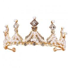 Children's Crown Tiara Princess Crown Girl Rhinestone Headband Birthday Gift Catwalk Dress High-end Performance Accessories