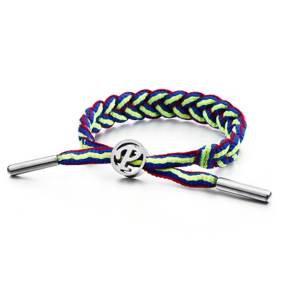 Personalized Sports Wristband Couple Bracelet Japan And South Korea Fashion Trend Stainless Steel Letter Bracelet