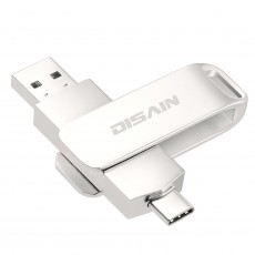 Type-c/USB3.1 Dual-use USB Flash Drive Otg Rotating Metal USB Flash Drive Support Oem Custom Logo