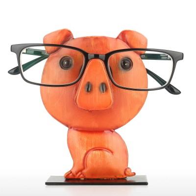 2021 Piggy Glasses Frame Creative Iron Art Cartoon Piggy Glasses Frame Home Office Desk Decoration Crafts Ornaments