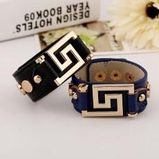 Punk Bracelet, Exquisite Bracelet, PU Bracelet, Leather Rivet Bracelet For Men And Women