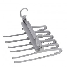 Folding Multifunctional Multi-layer Pants Rack Household Magic Pants Clip Wardrobe Storage Pants Hanger