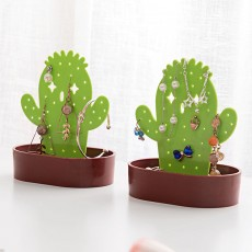 Cactus Jewelry Stand Resin Multifunctional Jewelry Display Stand Hanging Earrings Stand Necklace Jewelry Tray