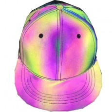 Reflective Colorful Baseball Cap Casual Seven Color Luminous Flat Brim Hat Symphony Outdoor Sun Hat For Men And Women