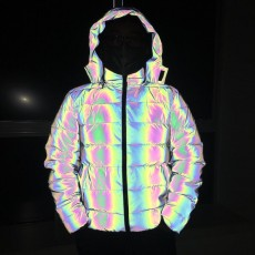 2020 Winter New Products Colorful Reflective Thicken Warm Cotton Jacket Men and Women Luminous Cross-border Cotton Jacket
