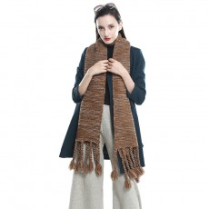 Women's Handmade Tassel Thick Wool Scarf Ethnic Style Wild Decorative Scarf Warm And Thick Neck Guard