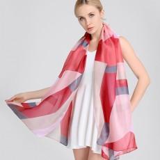 Satin Imitation Silk Printing Silk Scarf Korean Fashion All-match Shawl Scarf Dual-use For Ladies