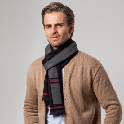 Autumn And Winter New Korean Men's Scarf Casual Imitation Cashmere Thickened Long Warm Scarf
