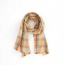 Korean Version Of Cashmere Plaid Shawl Thickened Autumn And Winter Ladies All-match Decorative Scarf