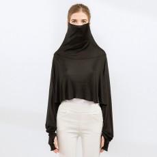 Silk Sunscreen Shawl Women's Summer Long-sleeved Driving Cloak Bib Cycling Mask Mulberry Silk Cloak One Sunscreen Clothing