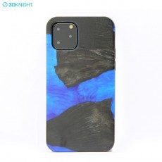 Customized iphone11 Mobile Phone Case TPU Creative Paste Resin Wood Suitable Gifts