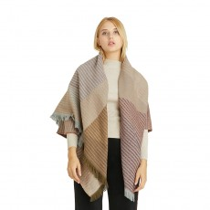 Shawl European And American Winter Thickened Wild Decorative Scarf Imitation Cashmere Geometric Pattern Scarf Shawl For Women