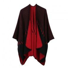 Simple Tassel Pattern Jacquard Split Both Sides Wild Fashion Imitation Cashmere Shawl For Ladies