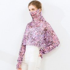 Silk Shawl Sunscreen Clothing Women's Summer New Style Cloak, Mulberry Silk Scarf, Driving Face Mask, Long-sleeved One-piece Cloak