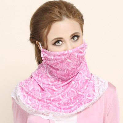Silk Printing Sunscreen Sunshade Mask High-grade Mulberry Silk Double-sided Knitted Windproof And Breathable Large Mask