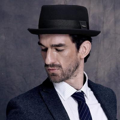 Autumn And winter British Retro Jazz Hat Top Hat Korean Warm Fashion Woolen Hat For Men