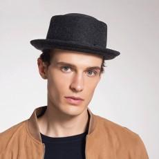 2020 Fashionable Men's Hat Jazz Hat Custom Felt Hat British Handsome Retro Woolen Hat